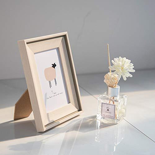 QKEMM Bilderrahmen Fotorahmen Modern Souvenir Bilderrahmen-Harz-Set Tisch+Aufhängen An Der Wand 10,2×15,2cm Weiß