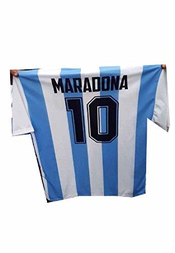 maglia argentina Generico t-Shirt Maglia Argentina AUTOGRAFO Stampato ricordo Maradona Tutte Le Taglie Omaggio Portachiavi (L Adulto)