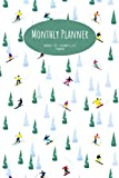"""Monthly Planner: Skiers/Snowboarders; 24 months; January 1, 2021 - December 31, 2022; 6"""" x 9"""""""