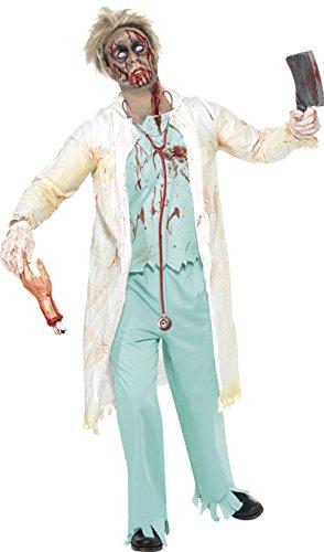 Smiffy's - Disfraz de médico Zombie para Hombre, Ideal para Halloween