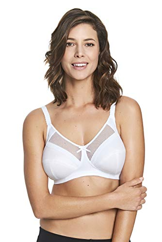 Royce Women's Charlotte Wire-Free Cotton-Lined Comfort Bra, White, 32HH