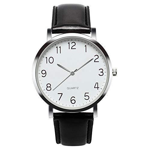 YXXERSHI Fashion herenhorloges, heren simpel Busines horloge, vintage kwarts watch-C
