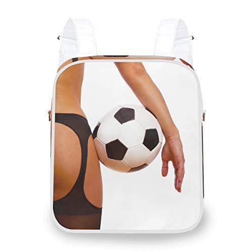 Mochila Casual Mochila Bolsa de Hombro Chica Sexy con balón de fútbol Computadora de fútbol Mochila multifunción