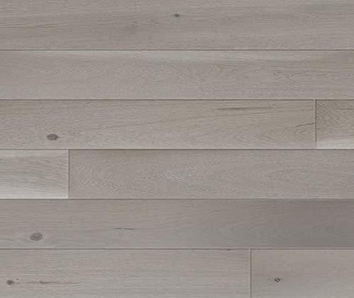 HORI® Klick Parkett Dielenboden Parkettboden Eiche Family grau Landhausdiele 1-Stab mit Fase versiegelt I Eiche I 7 Dielen im Paket = 0,99 m²