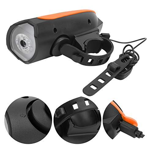 DyAn Luz De Bicicleta, Luz Delantera De Bicicleta con Bocina Carga USB Luz De Conducción Nocturna Linterna Impermeable para Faros Delanteros