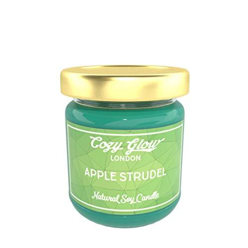 Vela de soja marca Cozy, con aroma a strudel de manzana, de 200 ml