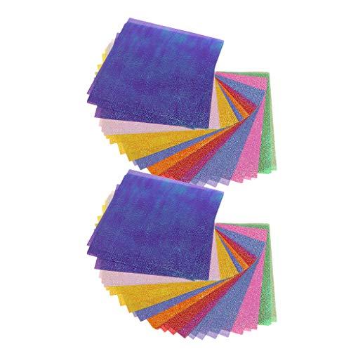 Bonarty - 100 Hojas de Papel de Origami para artesanía
