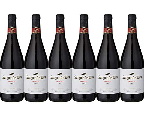 Sangre de Toro, Vino Tinto - 6 botellas de 75 cl, Total: 4500 ml