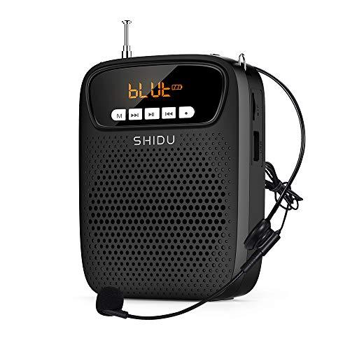 SHIDU amplificador de voz portatil micrófono, (15 W) con