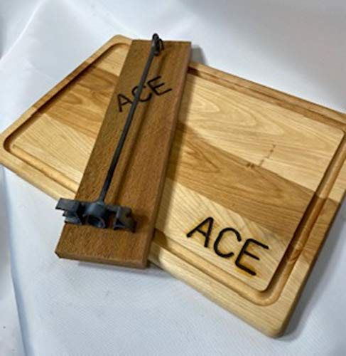Personalized Outlet SALE Miniature Branding Iron with Board Display an Excellence Cedar
