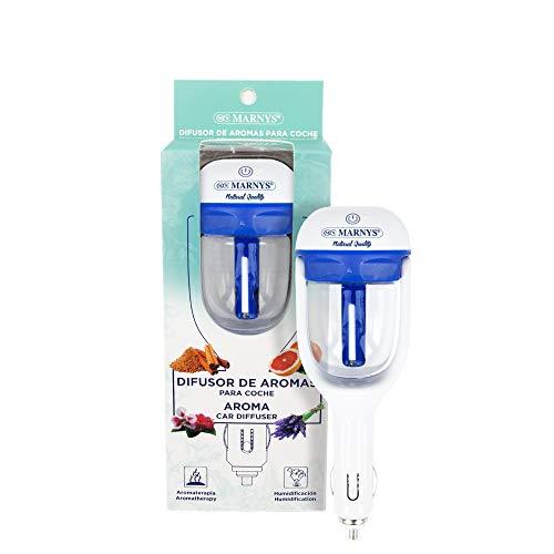 MARNYS Difusor de Aromas para Coche Humidificador Aceites Esenciales