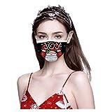 zhushuGG 10/20 Stück Unisex Einweg Mundschutz, 3 lagig Fröhliche Weihnachten Face Cover, Maske Staubdicht Atmungsaktiv Mund-Nasen Bedeckung Halstuch Schals für Erwachsene