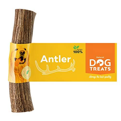 100% Natürlich Hirschgeweih für Hunde Kauspielzeug Kauknochen Hundeknochen Geweih, Größe Large
