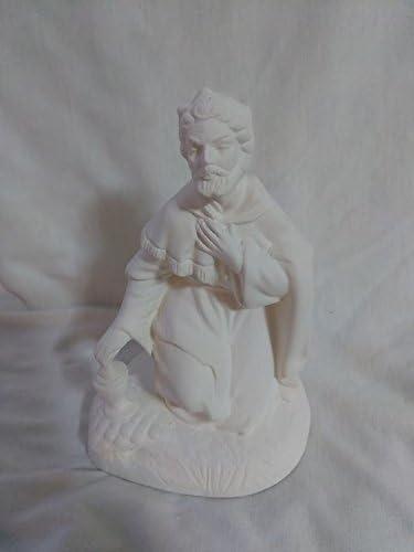Atlantic Direct stock discount Nativity Kneeling Wiseman Ready Bisque Paint Ceramic to Wholesale