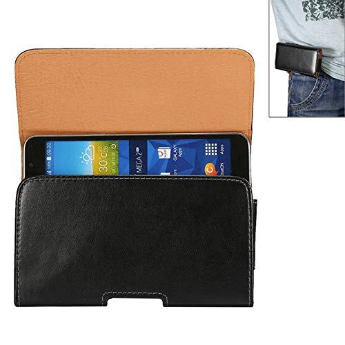 ZAORUN Cubiertas Protectoras de Cellphone 6,3 pulgadas Universalfunda de cuero de estilo horizontal ygiratoriade textura de piel de oveja con agujero de correa Compatible for Samsung Galaxy Mega i9
