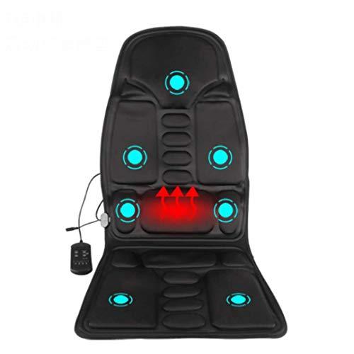 12 V auto voorstoel massage mat met warmte, 7 motoren vibratiemassage matras voor verlichting van rugpijn, massageapparaat voor het hele lichaam voor nek en rug. zwart