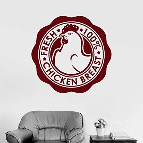 Kipfilet Vlees Business Teken Muurstickers Kruidenier Muursticker Voor Window42X43Cm