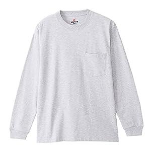 """[ヘインズ] ロングTシャツ 綿100% ロングスリーブポケットTシャツ ビーフィー H5196 メンズ"""""""