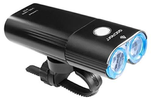 Luz para bicicleta GACIRON V9D 1800. Faro led potente para luz delantera de bicicleta de 1800 Lum. Foco linterna MTB con función Power bank con batería de 6700mAh. Impermeable y recargable usb.
