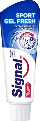 Signal Zahnpasta (für ein extra Frische-Gefühl Sport Gel Fresh mit Fluorid) 12er Pack (12 x 75 ml)