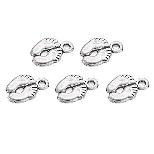 Healifty 50 pezzi di charms in argento antico che fanno gioielli pendenti in lega di ciondoli per bracciale collana fai da te