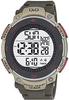 Q&Q Men's Digital Dial Silicone Band Watch [M124J004Y]
