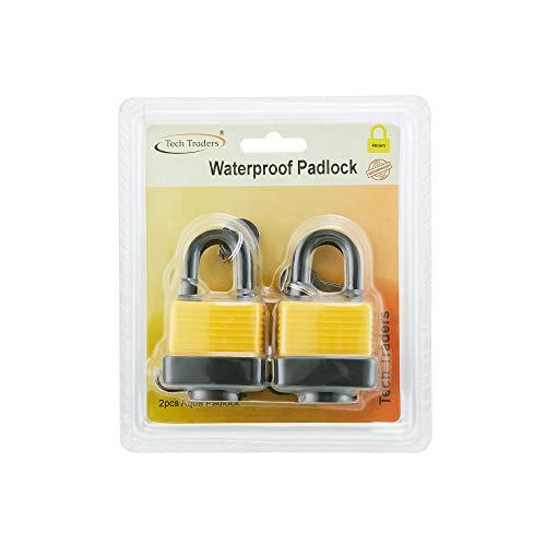 Tech Traders ® Aquasafe Padlock, Non-Corrosive,Heavy Duty Waterproof...