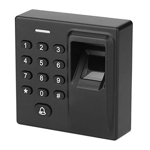 Fockety Cerradura de Puerta RFID, Sistema de Seguridad para el hogar con Tarjeta RFID, Alarma con zumbador Incorporado, Reconocimiento biométrico de Huellas Dactilares de Tipo inducción de