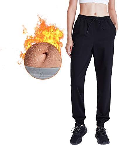 HOTSUIT Women Sauna Pants for Weight Loss Sweat Workout Pants Gym Exercise Sauna Suit Black product image