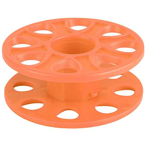 HJPA Tauchspulenrolle,Langlebiges Tauchen Aus Kunststoff Kompakte Fingerspulenrolle Taucher Unterwassertauchen Schwimmseil Spule Rad Tauchzubehör,Tauchwerkzeug Orange