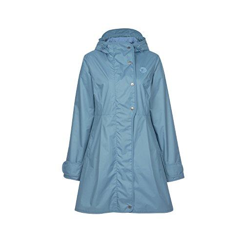 Finside Tuija Blue Mirage blau Damen Zip In Sommer Regenmantel Jacke Parka