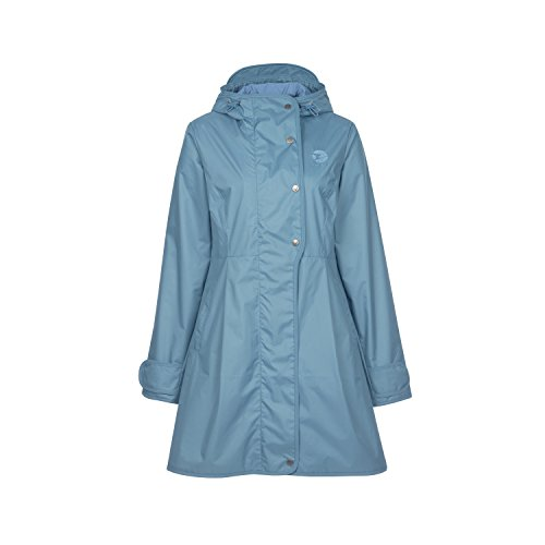 Finside Tuija Blue Mirage blauw dames rits in zomer regenjas jas parka