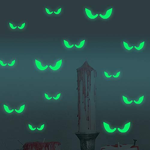 ACC Halloween Glow Sticker Glow Wanddeur en raamdecoratie Lichtgevende Sticker, Geschikt voor Bar Slaapkamer Feest, 18 Sts.