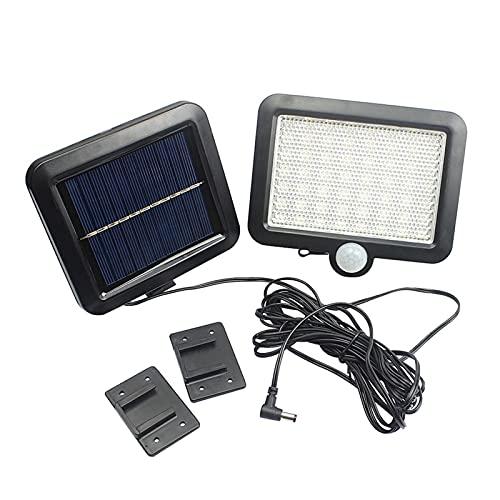 FHYTGBS Luces solares de Pared-Jardín al Aire Libre 56 LED Luces de jardín con energía Solar Sensor de Movimiento Corporal Focos solares Focos Luces