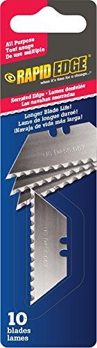 Rapid Edge All-Purpose Serrated Utility Knife Blades (10 blades) (1 Pack)