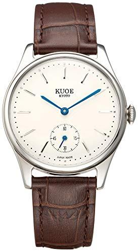 [クオ]KUOE 日本製 国産 腕時計 ウォッチ 京都ブランド クラシック アンティーク 35mmケース メンズ レディース (型押しレザー)