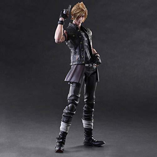 CQ Final Fantasy XV Figure - Prompto Argentum Atcion Figur Figur Sammlung von PA Kai - Ausgestattet mit Waffen und austauschbare Hände 11