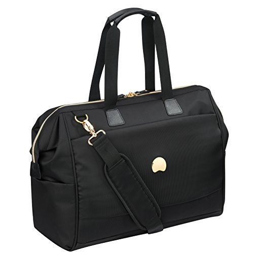 DELSEY Montrouge Travel Duffle, 50 cm, 30 liters, Black (Noir)
