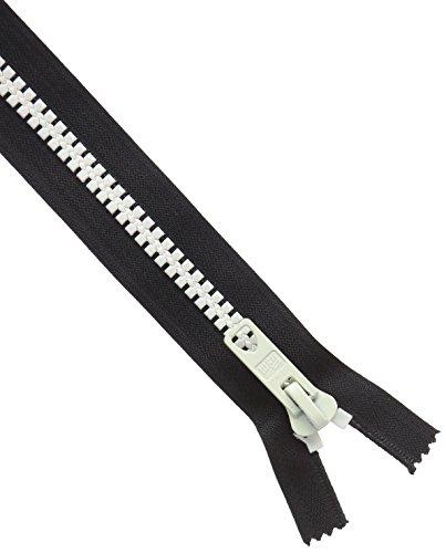 Prym Reißverschluss Bicolor (S12/40 cm, teilbar, schwarz/rohweiß)