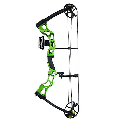 iGlow 40-70 lbs Green Archery Hunting Compound Bow 175 150 60 55 30 lb Crossbow