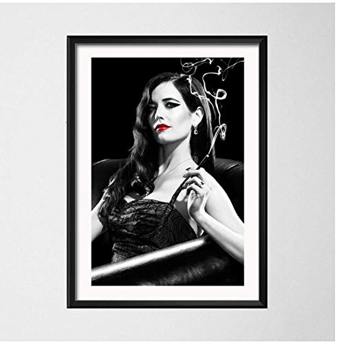 BGGGTD póster Sin City Quentin Tarantino Movie Hot Art Painting Vintage Canvas Poster Wall Home Decor -50x70cmx1 Sin Marco