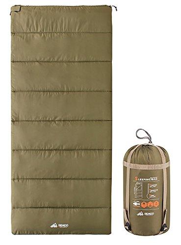 Semoo Deckenschlafsack - Leichter Kompakter Schlafsack Ideal für Frühling und Sommer - 190 x 84 cm/1kg - Olivgrün