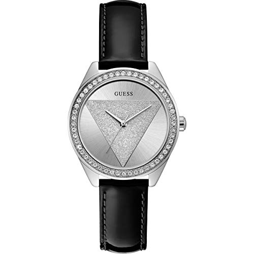 Guess Damen Analog Quarz Uhr mit Leder Armband W0884L3
