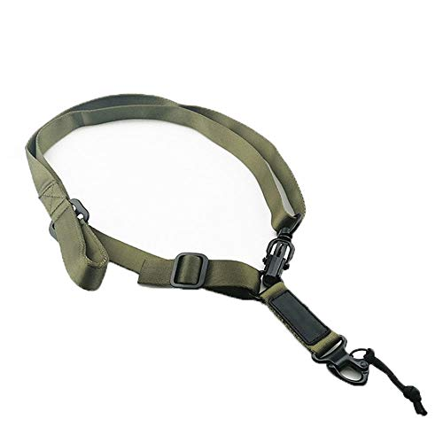 Adjuatable 2 Point Sling Traditional Rifle Slings with Quick Adjust Green Metal Hook for Outdoors