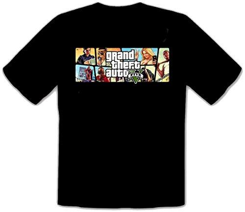 GTA V GTA 5 Grand Theft Auto 5 Rockstar Jogos Games schwarz T-Shirt -128 (M)