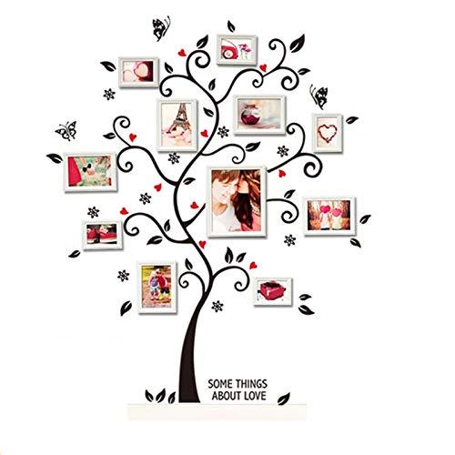 Hallobo® Adesivo da parete a forma di albero portafoto, decorazione per soggiorno o camera da letto