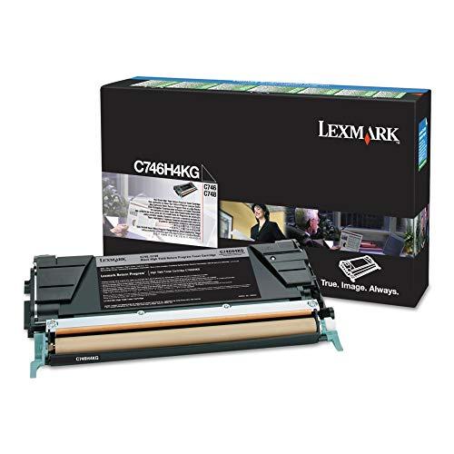 Lexmark High Yield Black Return Program Toner Cartridge for US Government, 12000 Yield (C746H4KG)