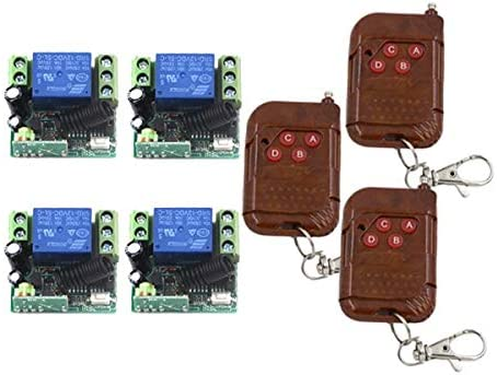 MITI- 12V Soldering 1 Channel Relay Remote System Control 4 Rec 10A cheap Switch