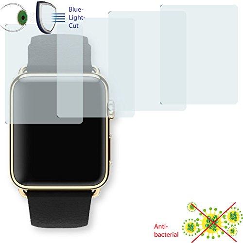 Disagu 4 x ClearScreen Displayschutzfolie für Apple Watch Edition 42mm Anti-bakteriell, BlueLightCut Filter Schutzfolie (bewusst Kleiner als das Display, da Dieses gewölbt ist)