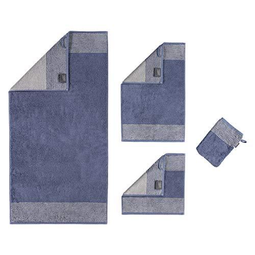 Cawö Home Handtücher Luxury Home Two-Tone 590 Nachtblau - 10 Duschtuch 80x150 cm